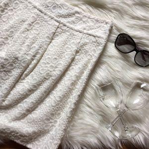 LOFT Floral Textured Skirt